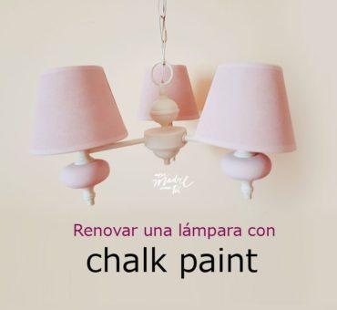Cómo pintar una lámpara de metal con chalk paint {alucinarás con el resultado}